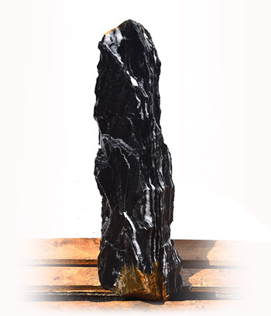 Black Angel Marmor Quellstein Natur Nr 153/H 85cm (Quellsteine)/ Bild 2