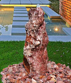 Quellstein Brunnen Set Flamingo Marmor 80 Bild Vorschaubild