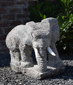 Gartenfigur Granit Elefant Dodo