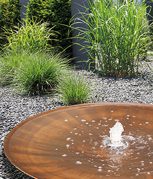 Cortenstahlbrunnen Wasserschale Aqua Bowl 140 M2 - Bild 05