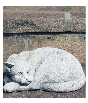 Gartenfigur Statue Katze