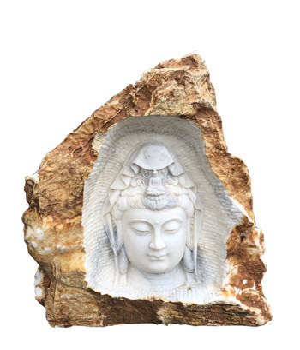 Große Buddha Mamor Gartenfigur