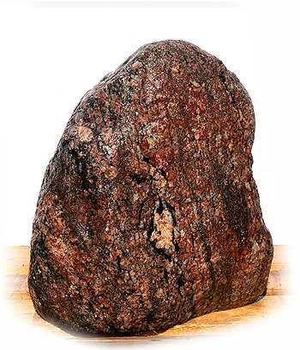 Eisgletscher Granit Quellstein Nr 27/H47cm - Findling 04