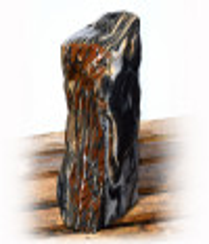 Black Angel Marmor Quellstein Natur Nr 138/H 56cm (Quellsteine) / Bild 4