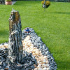 Quellsteinbrunnen Set Black Angel Marmor 100 Bild 01