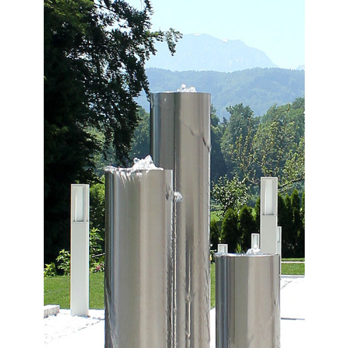 edelstahl gartenbrunnen m nchen 3er set 120s15. Black Bedroom Furniture Sets. Home Design Ideas