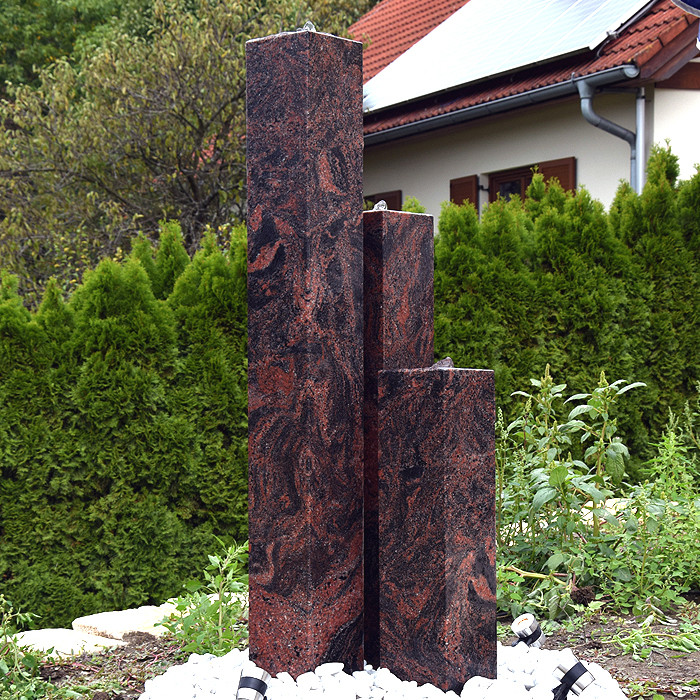 granit gartenbrunnen 3 s ulen aurora. Black Bedroom Furniture Sets. Home Design Ideas